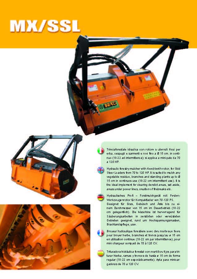 BERTI MX/SSL HYDRAULIC FORESTRY MULCHER - SKID STEER LOADER